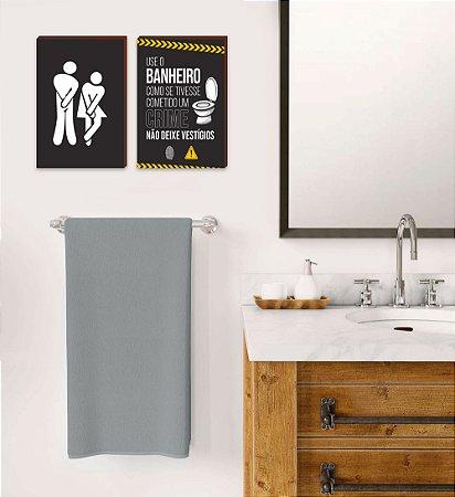 Dupla de quadros Use o banheiro [boxdemadeira]