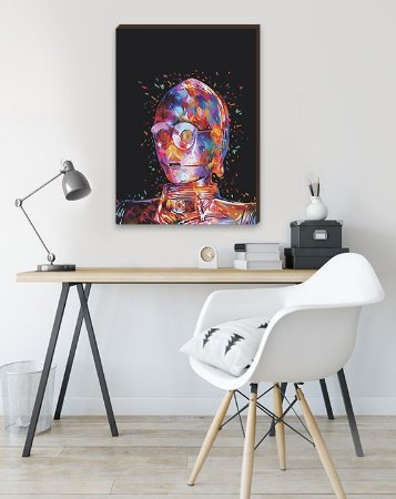 Quadro Decorativo C3PO- Star Wars [BoxMadeira]