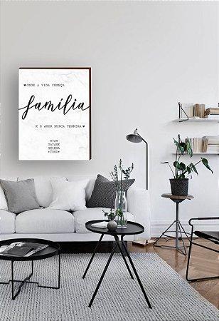 Quadro Família Personalizado Vertical [Box de Madeira]