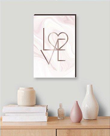 Quadro decorativo Love Rose [Box de Madeira]