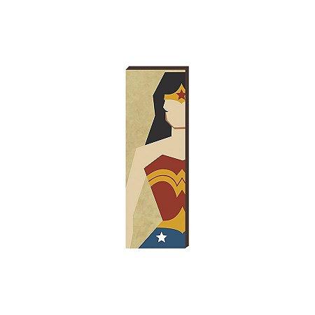 Super Heróis DC 20x60 - Mulher Maravilha [box de madeira]