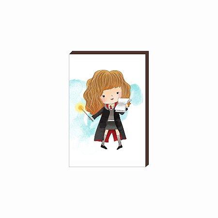 Quadro decorativo Hermione - Harry Potter [Box de Madeira]
