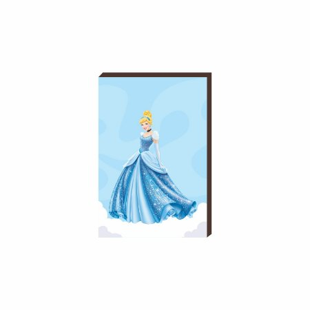 Quadro decorativo Cinderela- Disney [Box de Madeira]