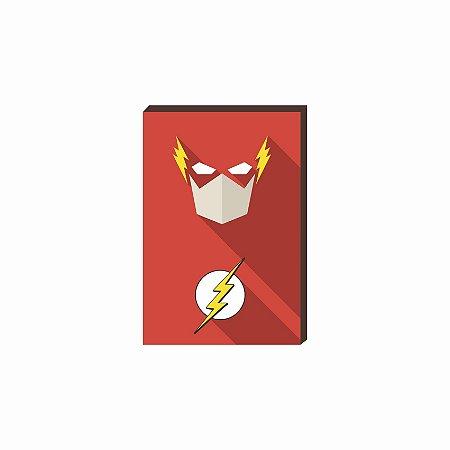 Quadro decorativo Super Herói Flash- DC [Box de Madeira]