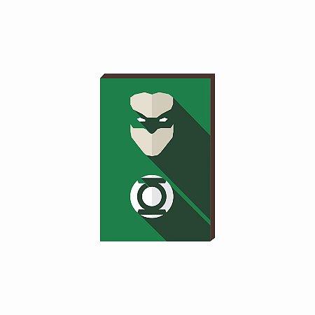Quadro decorativo Super Herói Lanterna Verde- DC [Box de Madeira]