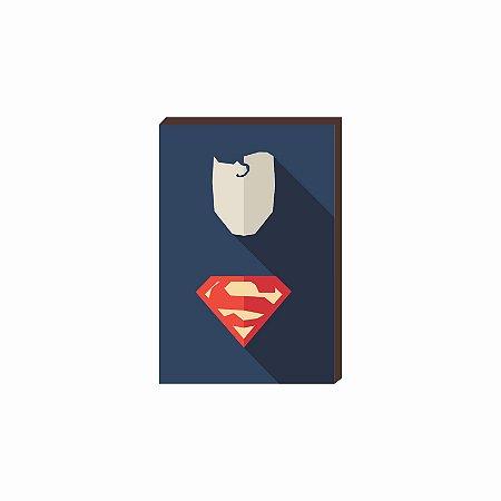 Quadro decorativo Super Herói Superman- DC [Box de Madeira]