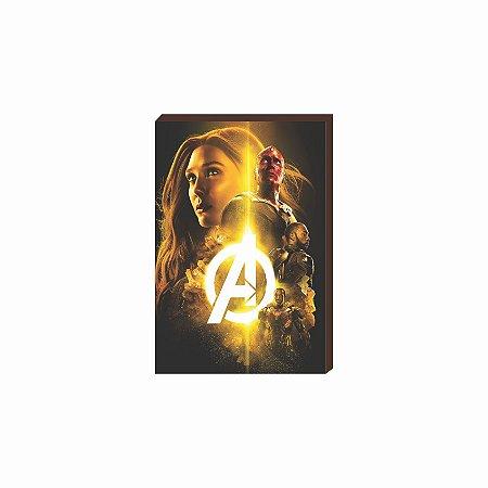 Quadro decorativo Super Heróis Marvel Mod.01 [Box de Madeira]