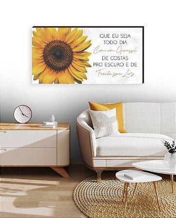 Quadro decorativo Girassol- horizontal  [BoxMadeira]