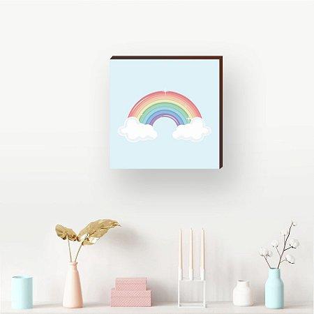 Quadro decorativo Arco íris [BoxMadeira]