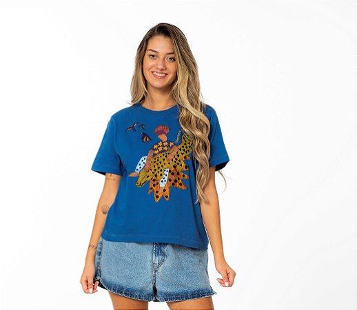 Blusa T-shirt Fit Silk Jacaré Farm