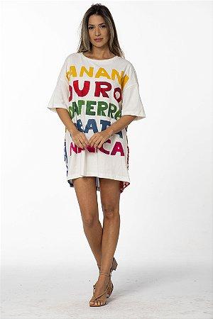 Vestido Curto T-shirt Estampa Banana Farm