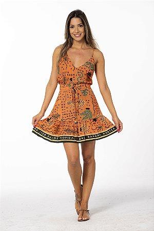 Vestido Curto Estampado Lenço Brasil Tropical Farm