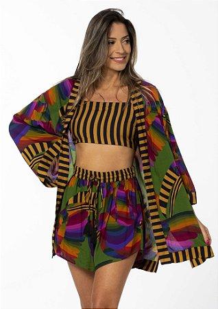 Kimono Feminino Estampado Furtacor Farm
