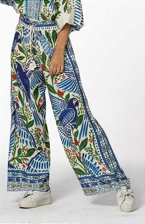 Calça Pantalona Estampada Voo de Verão Farm