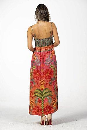 Vestido Cropped Estampa Oasis De Verão Farm