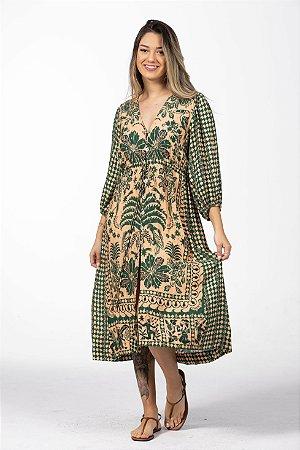 Vestido Túnica Estampado Oasis Farm