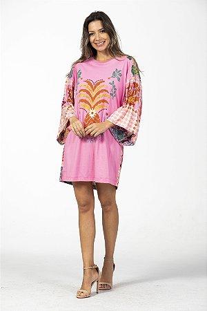 Vestido Kimono T-shirt Estampado Silk Rainha das Frutas Farm
