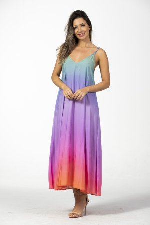 Vestido Cropped Arco Íris Farm