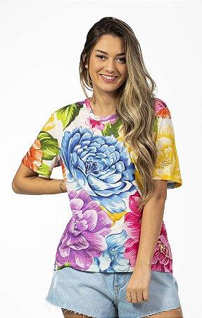 Blusa T-shirt Estampada Chita Rainbow Farm
