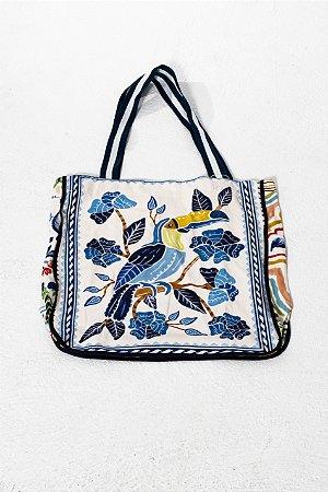Maxi Bolsa Estampada Azulejo Tropical Farm