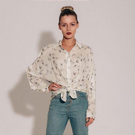 705e17b8be03e Camisa feminina Canal estampa Safari - Gardênia Store - Moda ...