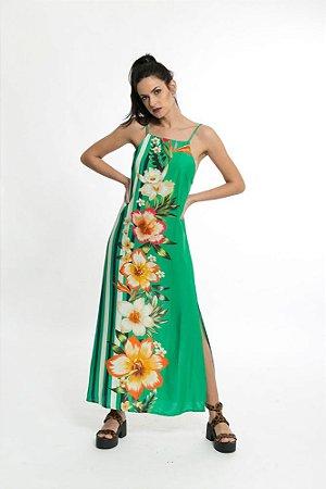 Vestido Cropped Menina Baiana Verde Tropical Farm