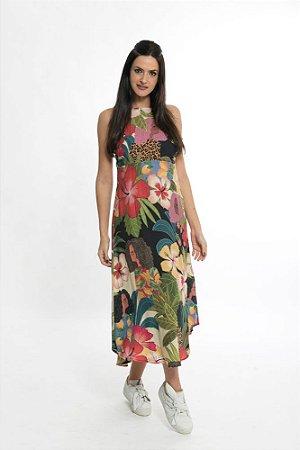 Vestido Cropped Delicadeza Feminino Preto Farm