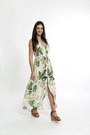 Vestido Cropped Estampado Floralu Farm