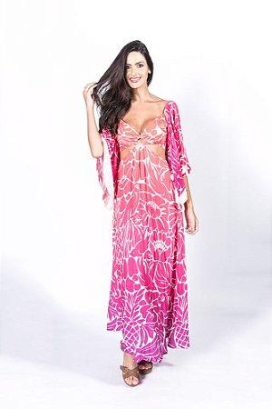 Vestido Longo Estampado Desejo Gráfico Farm
