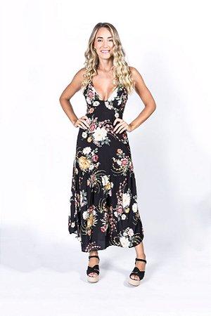Vestido Guipir Estampado Floral Luli Farm