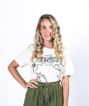 T-shirt Estampada Brasil Farm