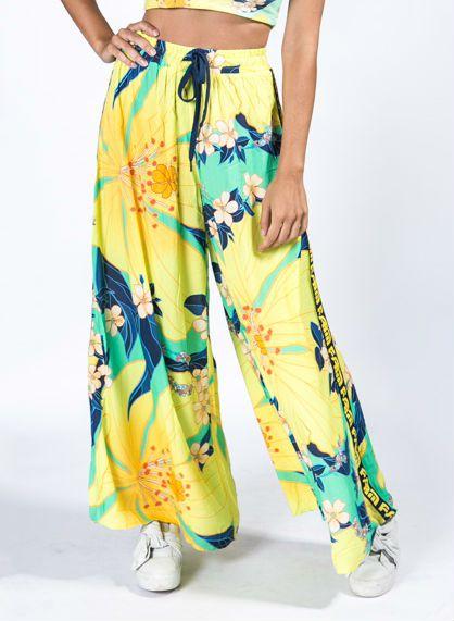 Calça Pantalona Estampada Floral Pietra Farm
