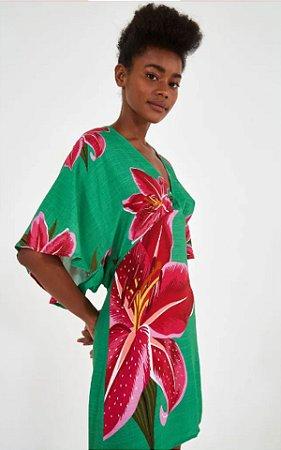 Vestido Curto Estampado Floral Lirio Farm