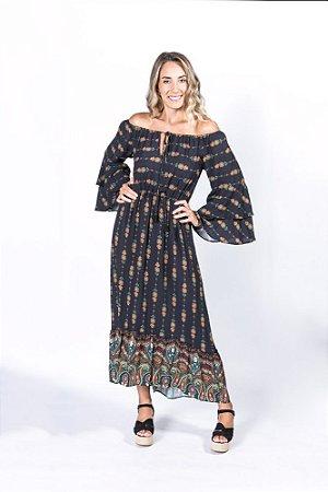 Vestido Cropped Estampado Abacaxi Farm