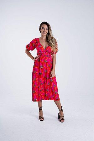Vestido Cropped Estampado Piri Piri Farm