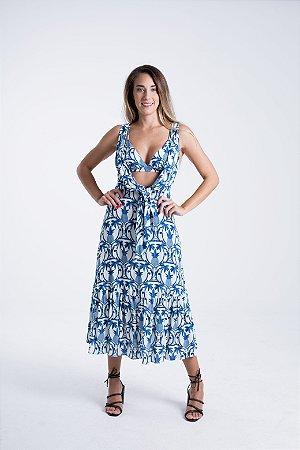 Vestido Cropped Estampado Abacaxi Tropical Farm