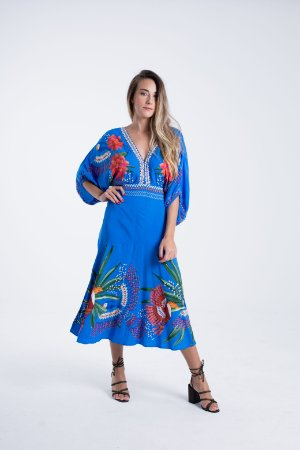 Vestido Midi Estampado Magia da Floresta Farm