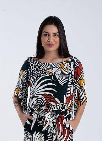 Blusa Feminina Estampada Beleza Gráfica Farm