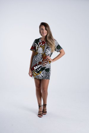 Vestido T-shirt Estampado Beleza Gráfica Farm