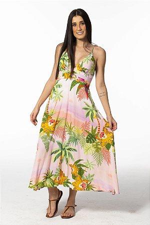 Vestido Midi Estampado de Sol Farm