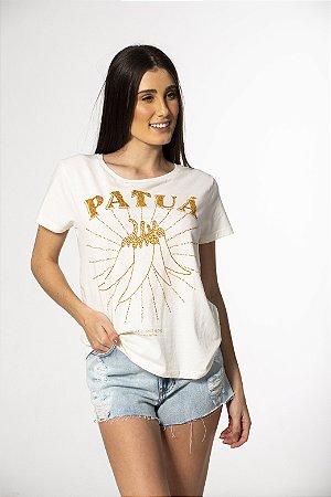 T-shirt com Bordado e Estampa Patuá Off White Farm