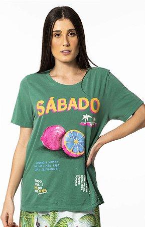 T-shirt Estampada Sábado Farm