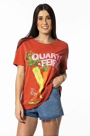 T-shirt Estampada Quarta-Feira Farm