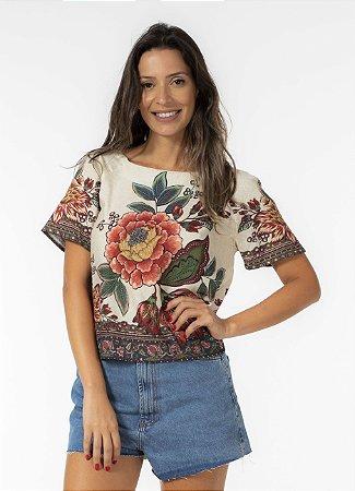 Blusa T-shirt Estampada Kaen Farm