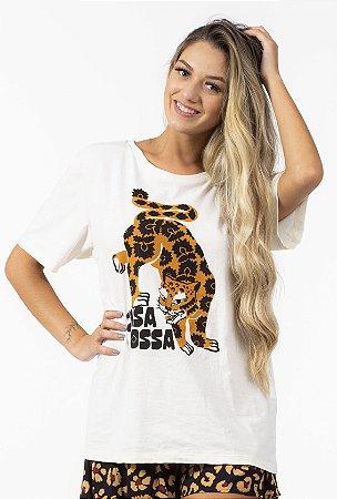 T-shirt Feminina com Estampa Coisa Nossa Off White