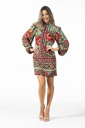 Vestido Curto Estampado Samba de Flor Farm