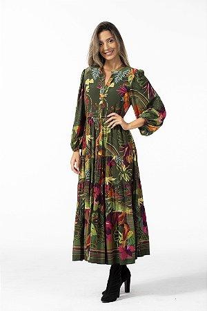 Vestido Cropped Longo Estampado Jeitinho Carioca Farm