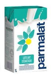 Leite longa vida desnatado Parmalat 1 litro