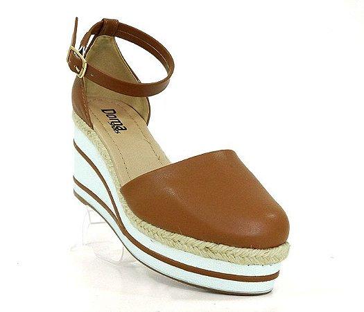 Sandália Anabela Feminina Plataforma Doma Shoes