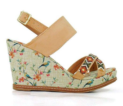 Sandália Feminina Plataforma Anabela Doma Shoes